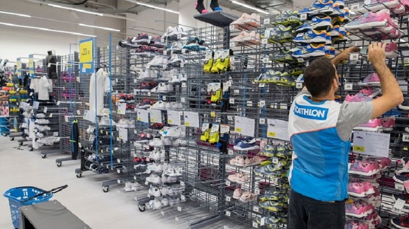 Decathlon inside store colored picture